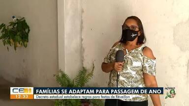 Famílias se adaptam pra seguir medidas sanitárias na passagem de ano - Saiba mais em g1.com.br/ce