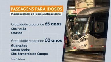 Confira as mudanças na gratuidade de transporte público para idosos de 60 a 65 anos de idade em SP - O governo de São Paulo publicou nesta quinta-feira (31) o decreto que suspende a gratuidade do transporte público para idosos de 60 a 65 anos.