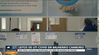 Em Balneário Camboriú, dois leitos estão desativados por falta de aparelhos - Em Balneário Camboriú, dois leitos estão desativados por falta de aparelhos