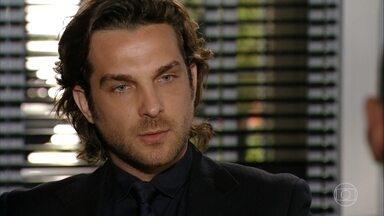 Alberto manda seu advogado interditar Dionísio - Eric avisa sobre os riscos da ação e o vilão manda prosseguir