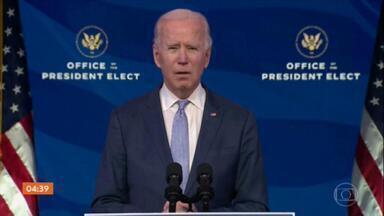 'Nossa democracia está sob um ataque sem precedentes', diz Joe Biden - O presidente eleito dos Estados Unidos fez um discurso na tarde desta quarta-feira (6).