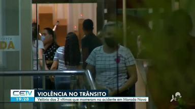 Velados os corpos das três vítimas do acidente em Morada Nova - Saiba mais em g1.com.br/ce
