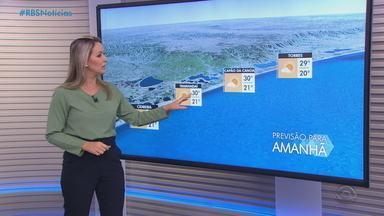 Sábado (9) deve ter chuva na Região Norte, na Campanha e no Sul do RS - Demais regiões seguem com tempo firme e calor.