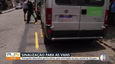 Transporte alternativo ganha placas para orientação na área central de Campos - Mudanças no trânsito também foram aplicadas a partir desta sexta-feira (8).