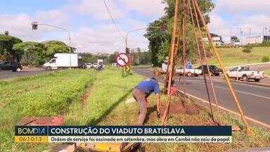 Construção de viaduto em Cambé ainda não saiu do papel - A Ordem de serviço foi assinada em setembro, mas obra em Cambé ainda não começou.