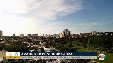 Segunda-feira começa com altas temperaturas no Oeste Paulista - Ao longo dia dia há chances de rápidas pancadas de chuva.