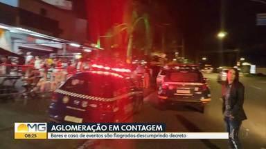 Guarda Civil flagra aglomeração em bares e casa de de eventos, em Contagem - Quatro estabelecimentos foram notificados por descumprirem decreto.