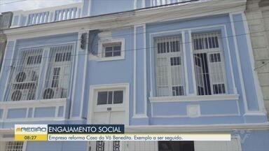 Empresa reforma Casa da Vó Benedita - Presidente da instituição e o gerente de sustentabilidade da empresa falaram sobre a ação.