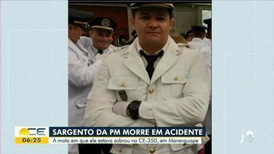 Sargento da PM morre em acidente de moto - Saiba mais em: g1.com.br/ce