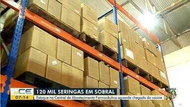 Sobral tem estoque de 120 mil seringas para vacinação contra Covid-19 - Saiba mais em: g1.com.br/ce
