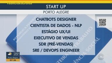 Startup de tecnologia está com seis vagas disponíveis - Assista ao vídeo.