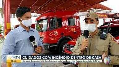Corpo de bombeiros dá dicas de como evitar acidentes com fogo neste período de férias - Corpo de Bombeiros dá dicas de como evitar acidentes com fogo neste período de férias