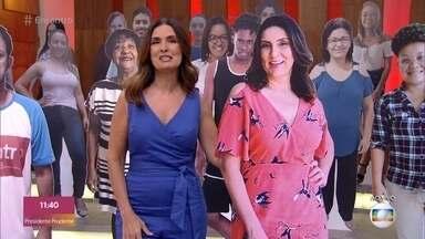 Oi da Plateia: Sonilda - Telespectadora manda seu recado da plateia virtual do 'Encontro'
