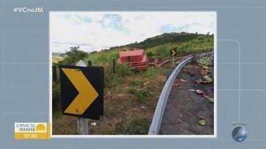Polícia Rodoviária registra acidentes graves com caminhões na Serra do Marçal, no sudoeste - O trecho é considerado um dos mais perigosos da região.