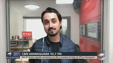 Pela 3ª semana seguida permanece em alta a ocupação de leitos de UTI em Araraquara - Confira as informações com Milton Filho, da CBN.