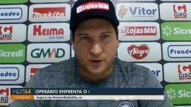 Operário enfrenta o Confiança nesta segunda (11) - Partida será na Arena Batistão, em Aracaju (SE).