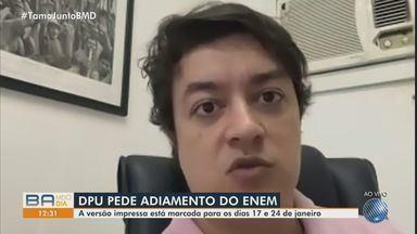 Defensoria Pública da União pede adiamento das provas do Enem, por causa da pandemia - O MEC prevê a realização do Exame Nacional do Ensino Médio no próximo dia 17.