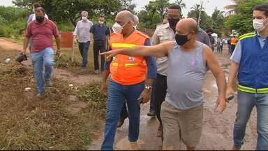 Prefeitura cria força-tarefa para avaliar estragos da chuva em Goiânia - Casas e ruas foram afetadas.