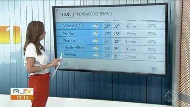 Meteorologia prevê chuva nesta segunda-feira na região - Veja como ficam os termômetros em algumas cidades da região.