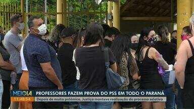 Candidatos a uma vaga de PSS fazem provas no Paraná - Mais de mil e setecentos professores participaram do concurso em Cascavel.