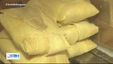 Pamonha sofre reajuste no preço após alta do milho em Goiás - A saca do milho é vendida à R$ 70.