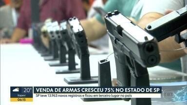 Venda de armas cresceu 75% em São Paulo - O estado anotou quase 14 mil novos registros e ficou em terceiro lugar no país.