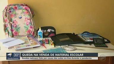 Escolas diminuem lista de materiais devido as aulas online durante a pandemia - Reaproveitamento do material é uma das causas.