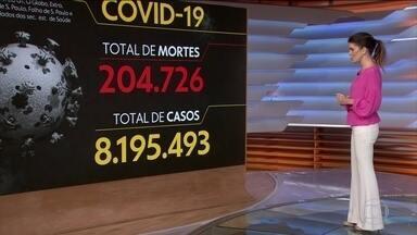Brasil registra 204.726 mortes causadas pela Covid-19 - Veja os números atualizados da pandemia no Brasil, segundo o consórcio de veículos de imprensa.