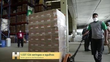 Estados se preparam para receber a vacina contra a Covid-19 - Pernambuco vai disponibilizar mais de 1,5 milhão de seringas e agulhas para todo o estado.