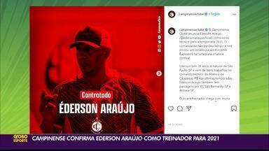 Novo técnico do Campinense, Ederson Araújo já fala como treinador da Raposa - Ederson vem de bons trabalhos à frente do Atlético-PB e vai comandar o Rubro-Negro de Campina Grande em 2021