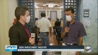 Projeto que prevê multa para que estiver sem máscara entra em pauta na Câmara de Varginha - Projeto que prevê multa para que estiver sem máscara entra em pauta na Câmara de Varginha