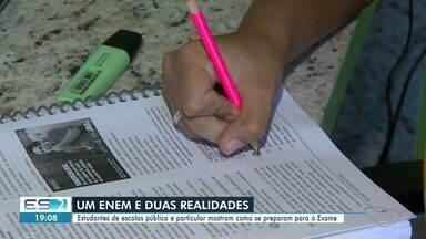 Estudantes com realidades diferentes mostram como se preparam para o Enem no ES - Confira na reportagem.