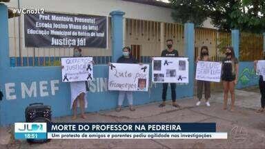 Protesto pede agilidade nas investigações da morte de professor na Pedreira - Protesto pede agilidade nas investigações da morte de professor na Pedreira