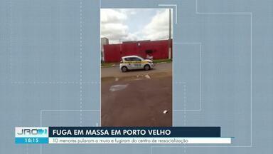 10 adolescentes pulam muro e fogem de Unidade Socioeducativa para menores em Porto Velho - Ação foi filmada por moradores que passavam pelo local.