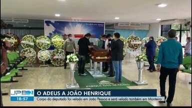 Corpo de João Henrique é velado em João Pessoa - Deputado estadual morreu em São Paulo em decorrência da Covid-19.