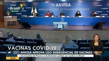 Anvisa aprova uso emergencial para as vacinas da Fiocruz e do Butantan - Anvisa aprova uso emergencial para as vacinas da Fiocruz e do Butantan