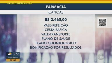 Tem oportunidade para farmacêutico em Canoas - Assista ao vídeo.