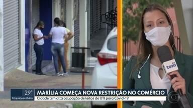 Marília espera remessa de vacina em meio a retorno para fase vermelha do Plano SP - Cidade do interior de SP está quase sem leitos disponíveis para pacientes da covid-19.