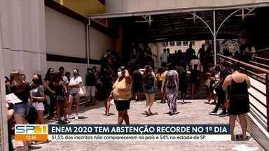 Primeiro dia do Enem 2020 tem recorde de abstenção em São Paulo - Milhares de estudantes fizeram a prova neste final de semana.
