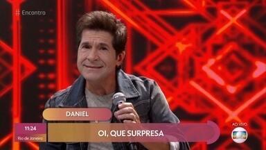 Daniel lança música 'Amei Uma Vez Só' - Cantor se apresenta ao vivo com banda no palco do 'Encontro'