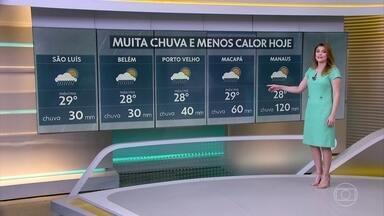 Chuva vai aumentar muito no norte do Brasil, nos próximos dias - Veja onde os temporais ocorrem nesta tarde e também na quinta-feira.
