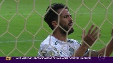 Luan e Kuscevic: protagonistas de uma noite confusa na defesa do Palmeiras - Luan e Kuscevic: protagonistas de uma noite confusa na defesa do Palmeiras