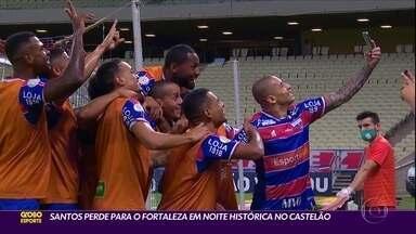 Santos perde para o Fortaleza em noite histórica no Castelão - Santos perde para o Fortaleza em noite histórica no Castelão