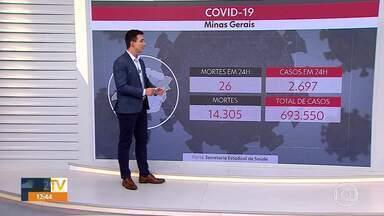 Covid-19: Minas se aproxima dos 700 mil infectados pela doença - São 693.550 casos no estado, 14.305 pessoas morreram em decorrência da doença.