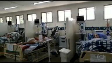 Situação é preocupante nos hospitais da rede estadual em São Paulo - Um em cada quatro hospitais da rede pública estadual, com leitos de UTI para Covid-19, está com a ocupação acima de 80%.