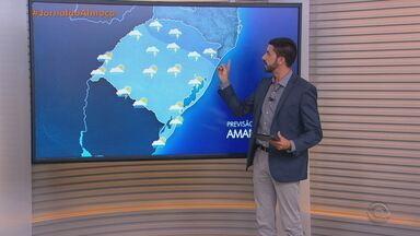 Quinta-feira (28) deve ter chuva em todo RS - Assista ao vídeo.