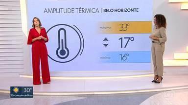 Termômetros disparam em BH - A temperatura pode alcançar os 33°C. Veja a previsão do tempo completa para hoje.