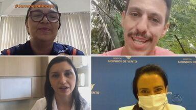 Chegada da vacina contra Covid-19 trouxe esperança para profissionais da Saúde no RS - Assista ao vídeo.