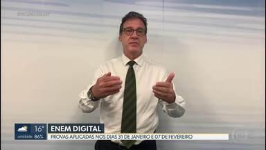 3,7 mil estudantes do DF farão a versão digital da prova do ENEM no domingo (31) - Será a primeira edição digital do Enem, aplicada para 96.086 candidatos confirmados. Segundo dia de prova está marcado para 7 de fevereiro.