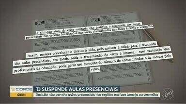 Justiça suspende volta às aulas presenciais em regiões nas fases laranja e vermelha - Decisão vale para escolas públicas e privadas e contraria decreto do Governo de São Paulo.
